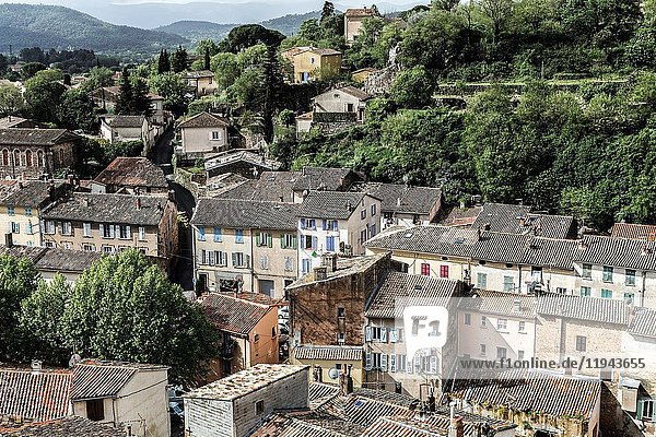 Medieval village of Les Arcs sur Argens  medieval district of Parage France Europe.