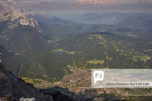 Alpen,  Karwendel,  Blick ins Tal