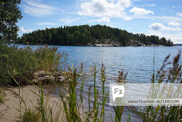 Sweden  Grinda island  small beach