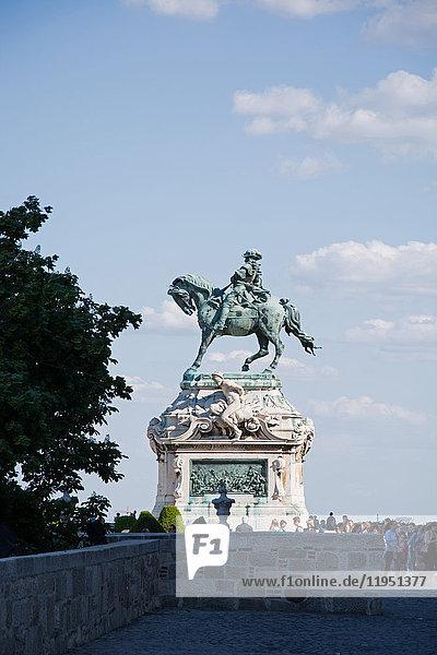 Ungarn  Budapest  Reiterstandbild von Prinz Eugen von Savoyen