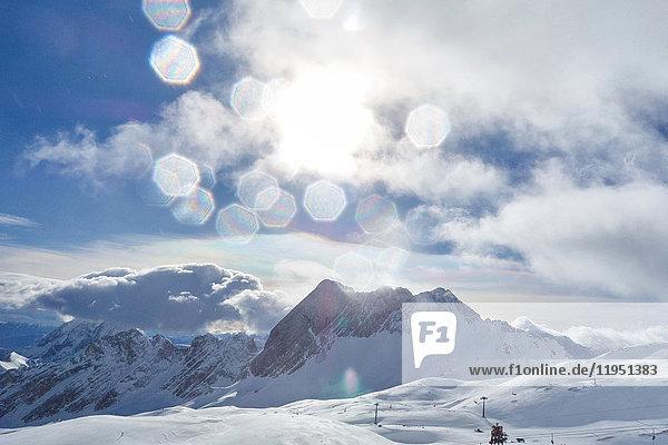 Deutschland  Bayern  Winterlandschaft in den Alpen