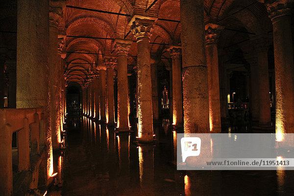 Türkei  Istanbul  Basilika Zisterne