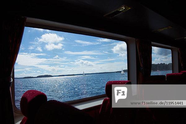 Schweden  Vaxholm  Innenraum eines Passagierschiffs