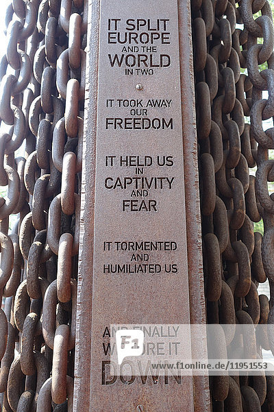 Hungary  Budapest  Iron Curtain monument