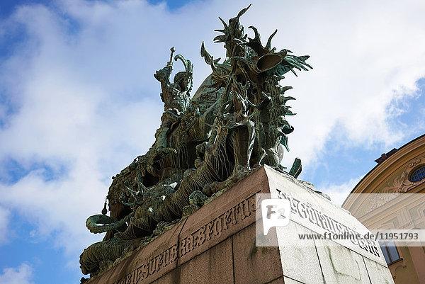 Schweden  Stockholm  Statue St. Georg und der Drache