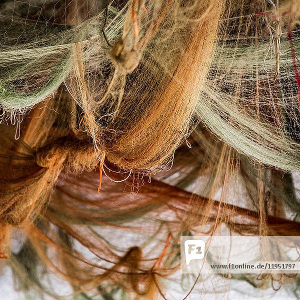 Fischernetze  Nahaufnahme