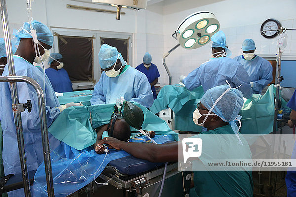 Africa. Sotouboua hospital. Operating theater. Togo.