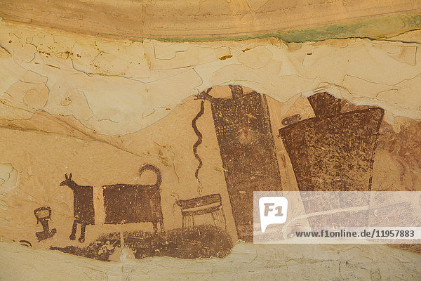 Temple Mountain Wash Pictograph Panel  near Goblin State Park  Utah  United States of America  North America