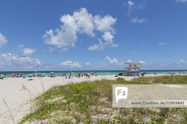 Lifeguard watchtower on South Beach  Miami Beach  Miami  Florida  United States of America  North America