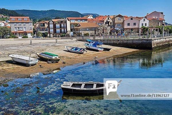 Combarro  Marina  Poio  Ria de Pontevedra  Pontevedra province  Galicia  Spain.