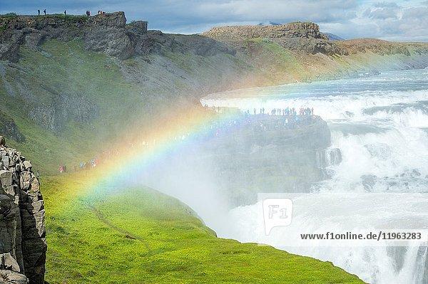Iceland - Gullfoss waterfall on the Hvítá river in southwest Iceland.