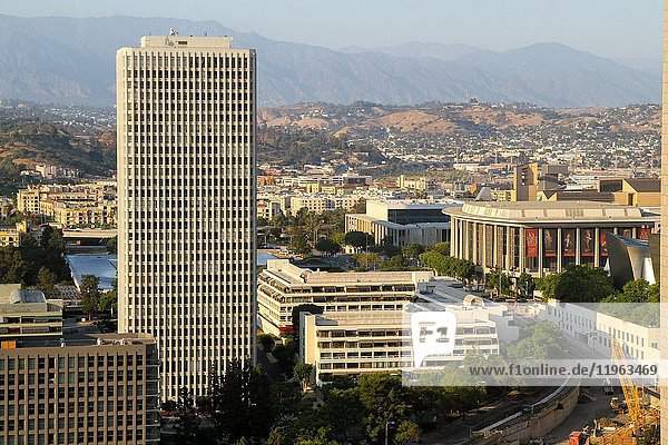 A view from the BonaVista Lounge in the Westin Bonaventure Hotel  Downtown Los Angeles  California  United States.