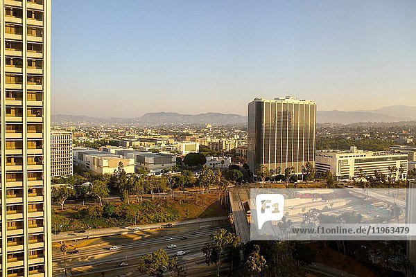 A view from the Westin Bonaventure Hotel  Los Angeles  California  United States.