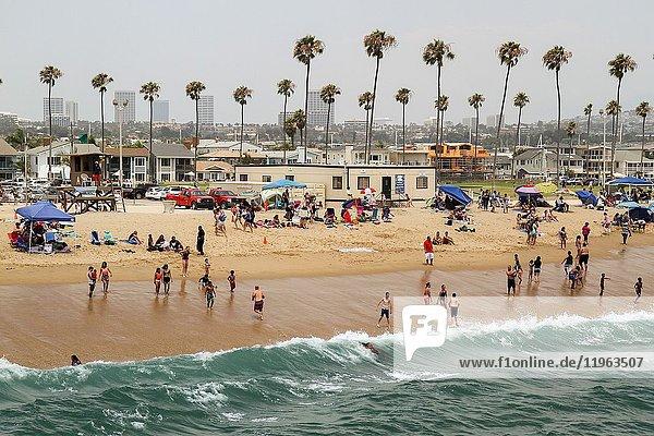 Balboa Pier Beach  Balboa Peninsula  Newport Beach  Orange County  California  United States.