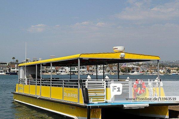 Discovery Cube's OceanQuest boat  Balboa Village  Newport Beach  Orange County  California  United States.
