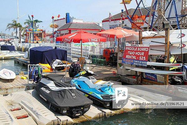 Paddle board rentals  Balboa Peninsula  Newport Beach  Orange County  California  United States.