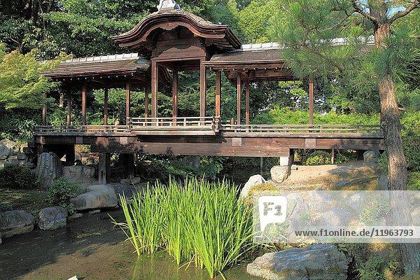 Japan  Kyoto  Shosei-en Garden  Kaito-ro Bridge .