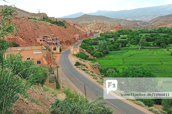 A Berber traditional village. The High Atlas. Morocco
