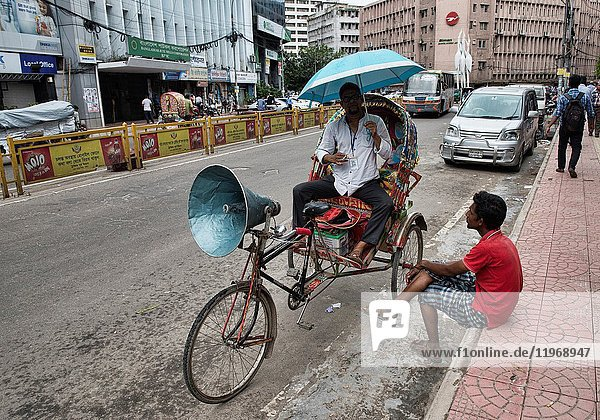 Rickshaws are the only way to get around in Old Dhaka  Bangladesh.