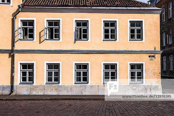 Traditional buildings in Tallinn  Estonia  Europe.