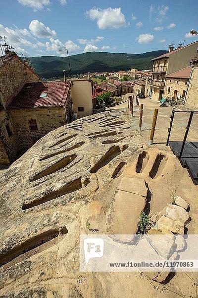 Necropolis. Regumiel de la Sierra. Alto Arlanza. Burgos province  Castile-Leon  Spain