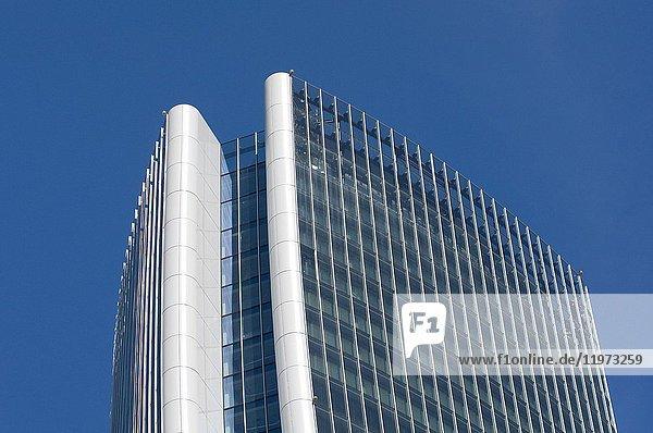 Italy  Lombardy  Milan  CityLife  Hadid Tower designed by Zaha Hadid Architect.