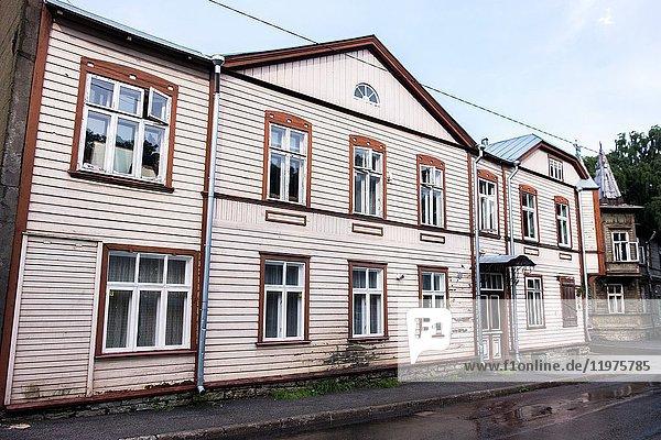 Traditional house in the Kadriorg neighborhood of Tallinn  Estonia  Europe.