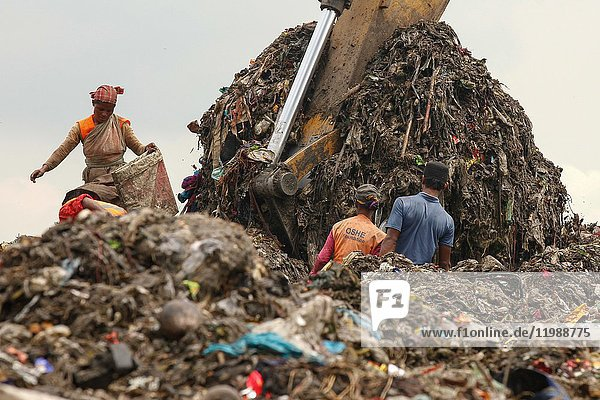 Bangladeshi labor working in a dump yard in Dhaka. Bangladesh is the ninth most populous country and twelfth most densely populated countries in the world. In particular  the projected urban population growth rate from 2010 to 2017 is 3%.  With this population growth  there is an increasing problem of waste management particularly in the larger cities. Currently  according to an UNFPA report  Dhaka is one of the most polluted cities in the world and one of the issues concerned is the management of municipal waste. Current (2012) waste generation in Bangladesh is around 22. 4 million tonnes per year or 150 kg/cap/year.  There is an increasing rate of waste generation in Bangladesh and it is projected to reach 47  064 tones per day by 2025. The rate of waste generation is expected to increase to 220 kg/cap/year in 2025. A significant percentage of the population has zero access to proper waste disposal services  which will in effect lead to the problem of waste mismanagement. The total waste collection rate in major cities of Bangladesh such as Dhaka is only 37%. When waste is not properly collected  it will be illegally disposed of and this will pose serious environmental and health hazards to the Bangladeshis.