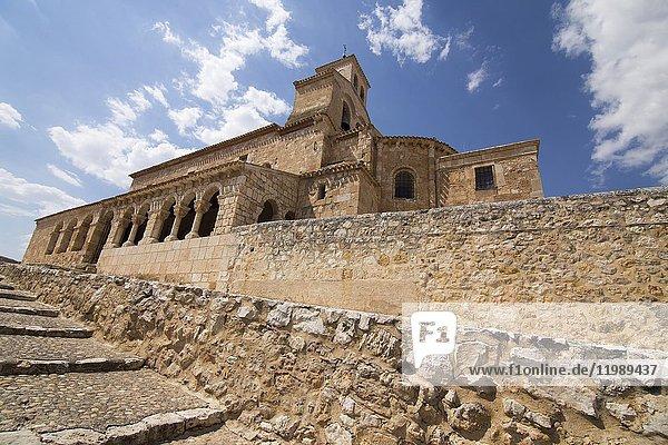 Our Lady of Rivero church in San Esteban de Gormaz village Soria province Castile Leon Spain.
