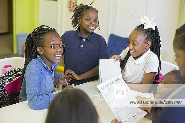 Spartanburg  South Carolina - Children do homework during the S. O. A. R. after school program at the Bethlehem Center  a community center serving the African-American Highland neighborhood. The center is supported by United Methodist Women.