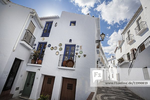 Street of Frigiliana. Frigiliana  Andalusia  Spain  Europe.