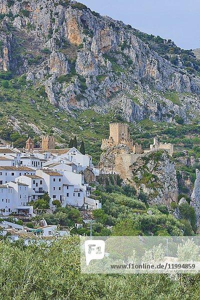 Zuheros  Castle and village  Sierra de la Subbetica  Route of the Caliphate  Cordoba  Andalusia  Spain.