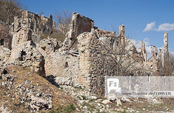 Caserras del Castillo (abandoned village)  Estopinan del Castillo municipality. Ribagorza  Huesca province  Aragon  Spain.