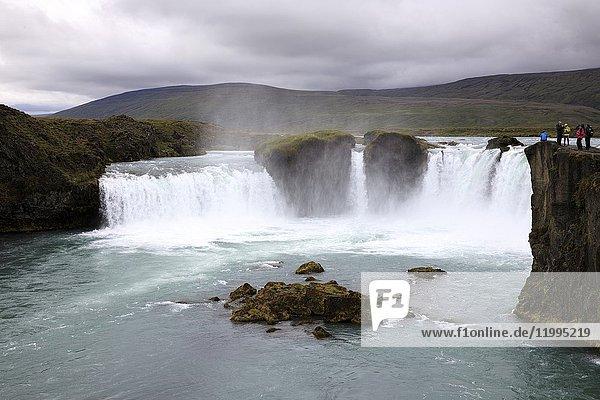 Godafoss waterfall  Iceland  Europe.