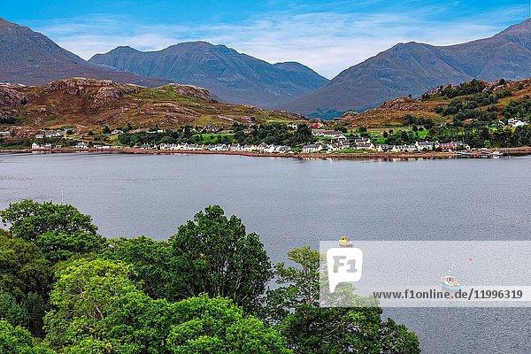 Shieldaig  Torridon Hills  Highlands  Scotland  United Kingdom.