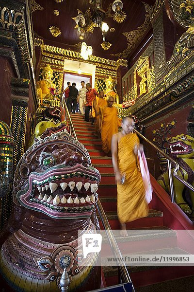 Wat Mahathat temple in Nakhon Si Thammarat (birthplace of Buddhism in Thailand). Surat Thani  Thailand  Asia.
