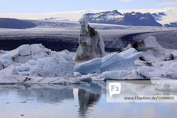 Jokulsarlon Glacier Lagoon  Iceland  Europe.