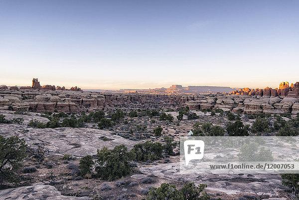 Sunset in desert  Moab  Utah  United States