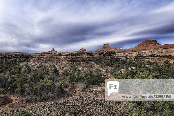 Clouds over desert in Moab  Utah  United States