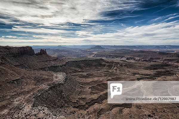 Scenic view of canyonlands in Moab  Utah  United States