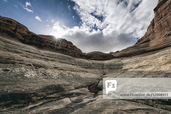 Clouds over canyon in Moab  Utah  United States