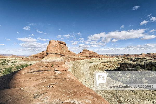 Blue sky over desert in Moab  Utah  United States