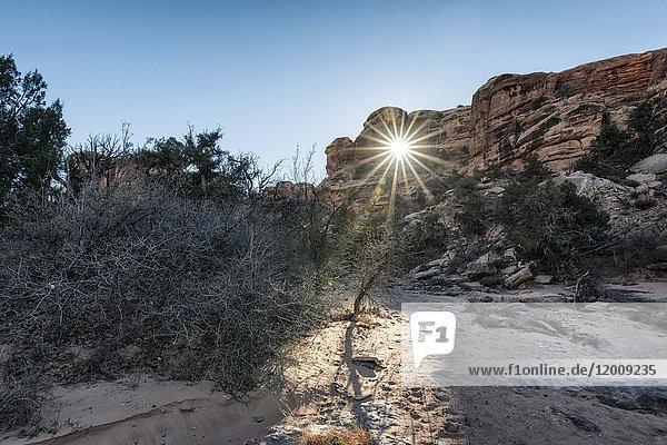 Sunbeam in desert  Moab  Utah  United States
