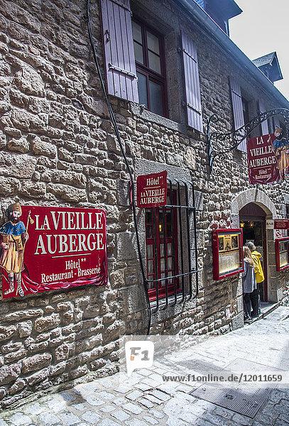 Normandy  Mont Saint Michel  inn on the main street (UNESCO World Heritage) (on the way to Santiago de Compostela)