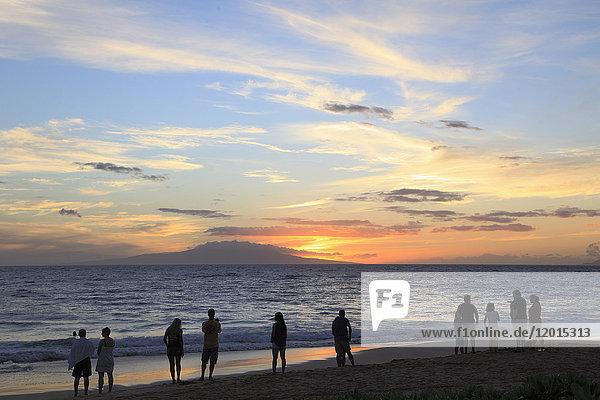 Hawaii  Maui  Wailea  beach  sunset
