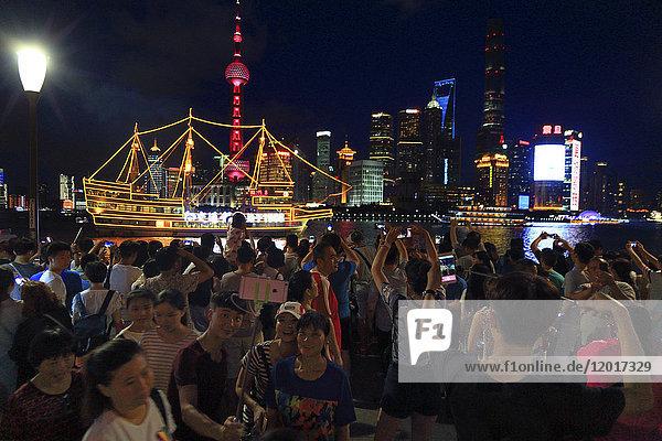 Asia  China  Shanghai.. Skyline and Huangpu