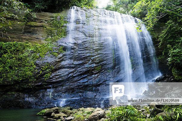 Concord waterfall  Grenada  West Indies