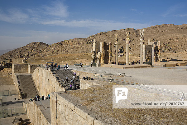 Iran Persepolis  stairs and entrance of the site