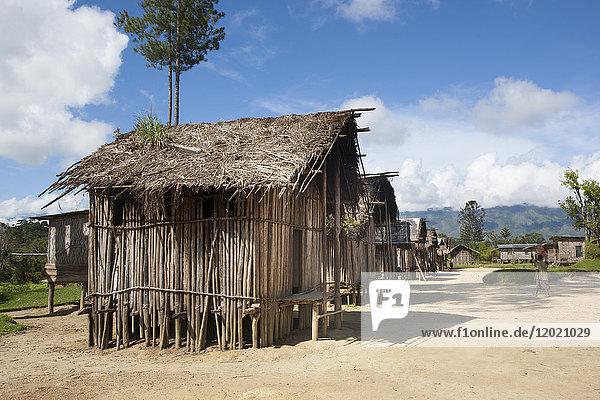 Rustic house  Framin  Papua New Guinea