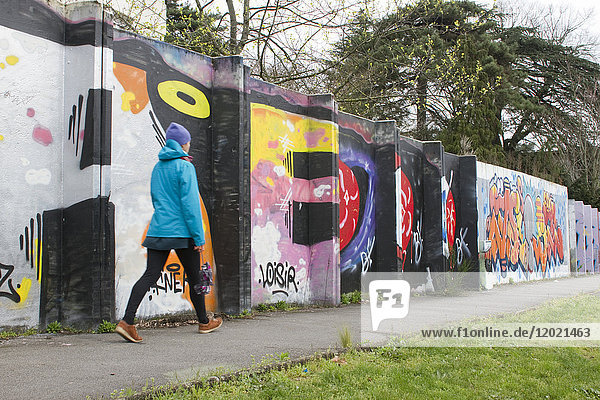 France  Nantes  a wall for artistic expression.